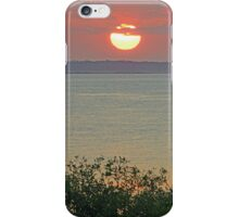 sunrise town beach  iPhone Case/Skin