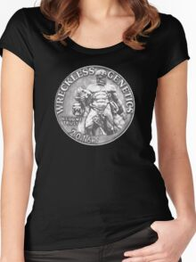 Wreckless Genetics SILVER Hercules Coin Women's Fitted Scoop T-Shirt