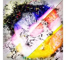 Digitally generated Multicolored abstract pattern  Photographic Print