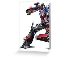 transformers optimus prime Greeting Card
