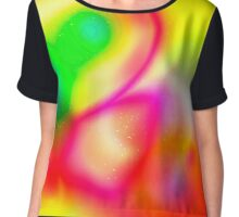 Digitally generated Multicoloured abstract pattern  Chiffon Top