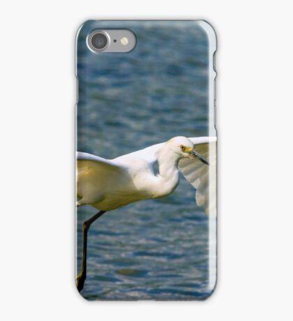 Snowy Egret inflight iPhone Case/Skin