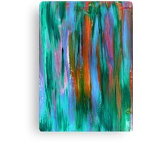 Abstract hand drawn background painted with acrylic and love Canvas Print