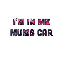 I'm in my mums car Photographic Print