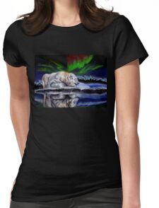 Bear reflection Womens Fitted T-Shirt