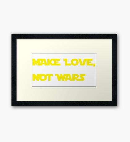 Make love, not wars. Framed Print