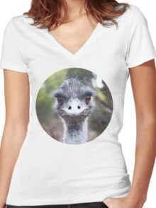 The Judging Emu - Comical Animals - Australia Women's Fitted V-Neck T-Shirt