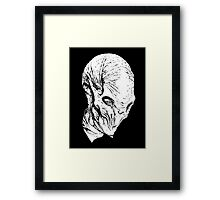 The Silence(whiteline)  Framed Print