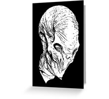 The Silence(whiteline)  Greeting Card