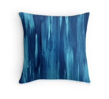 Abstract hand drawn print painted with acrylic and love Throw Pillow