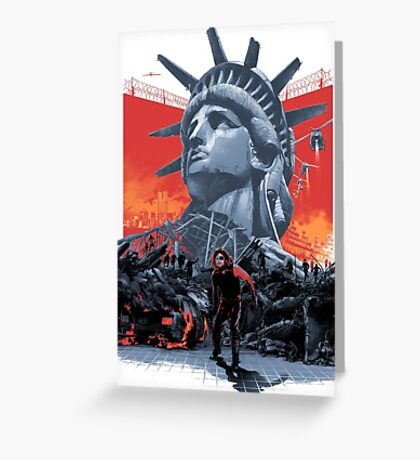 Escape From New York Greeting Card