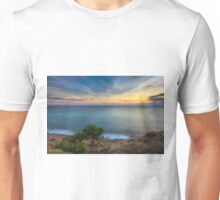 Trees by the sea at sunset Unisex T-Shirt