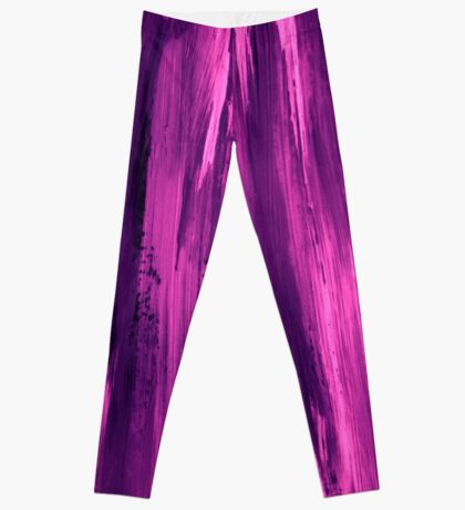 Abstract painting with purple, magenta, violet Leggings