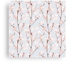 Blossom. Watercolor seamless floral pattern Canvas Print