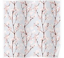 Blossom. Watercolor seamless floral pattern Poster