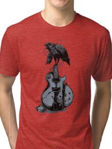 Crow on Guitar Tri-blend T-Shirt