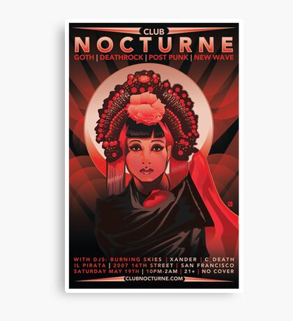 Poster for Nocturne   Anna May Wong Canvas Print