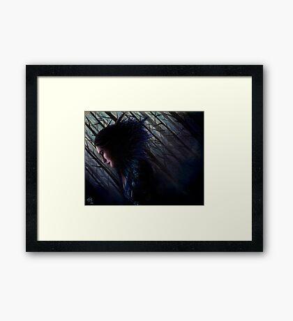 So Darkness I Became Framed Print