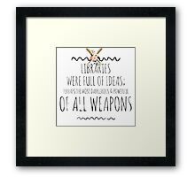 Libraries Framed Print