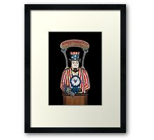 Shake With Uncle Sam Framed Print