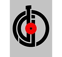 DJ  New Black Modern Symbol Photographic Print