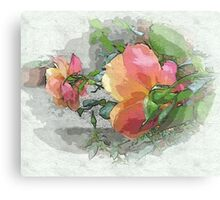 Behind the rose ...  Canvas Print