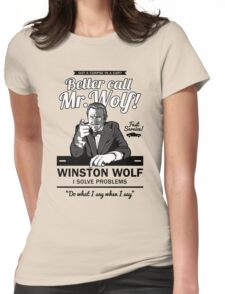 Better call Mr. Wolf Womens Fitted T-Shirt