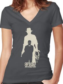 Obtainer of Rare Antiquities (light) Women's Fitted V-Neck T-Shirt