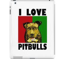 I Love Pitbulls, Black Font iPad Case/Skin