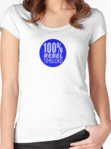 100% Rebel Timelord Women's Fitted Scoop T-Shirt