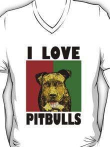 I Love Pitbulls, Black Font T-Shirt