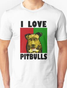 I Love Pitbulls, Black Font T-Shirt