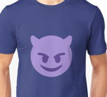 Smiling face with horns Unisex T-Shirt