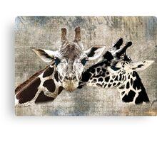 Snuggle Bug Giraffe Canvas Print