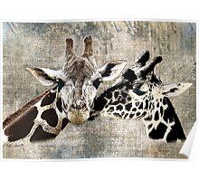 Snuggle Bug Giraffe Poster