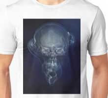 Skull and smokes - blue version Unisex T-Shirt