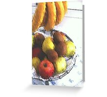 Still life ... Bananas and other fruit  Greeting Card