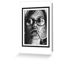 Smoking face Greeting Card