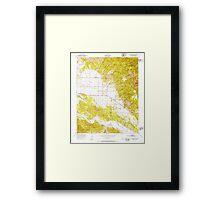 USGS TOPO Map California CA Williams Hill 301384 1949 24000 geo Framed Print