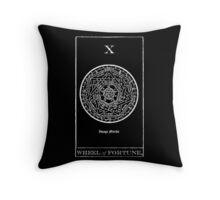 Wheel of Fortune Tarot X Throw Pillow