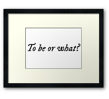 william shakespeare cool funny to be or not to be clever geek actor actress t shirts Framed Print