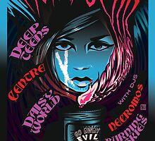 Poster for Moira Scar | Deep Teens | Daisy World | Centre | Necromos | Burning Skies by caseycastille