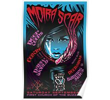 Poster for Moira Scar | Deep Teens | Daisy World | Centre | Necromos | Burning Skies Poster