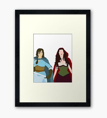 Once Upon a Time - Ruby & Dorothy 'Red Kansas' Framed Print