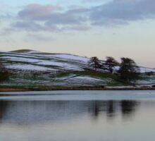 Welsh Lake in Snowy Winter Sticker