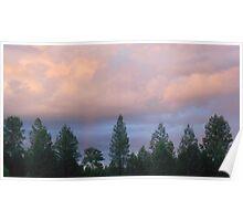 Bushfire clouds Poster