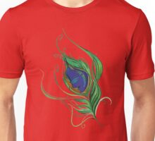 Lord Krishna Peacock Feather-effect Charming T-Shirt. Unisex T-Shirt