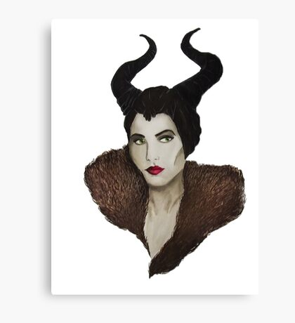 Maleficent Painting Canvas Print