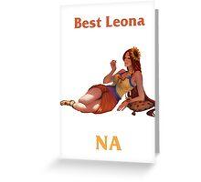 Best Leona NA Greeting Card