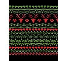 80's Christmas Knitted Sweater Design Photographic Print